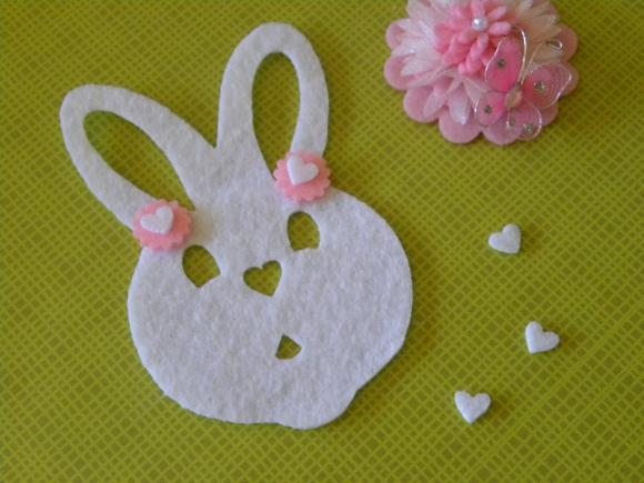 Felt Bunny 7 inch tall x 5 1/8 inch
